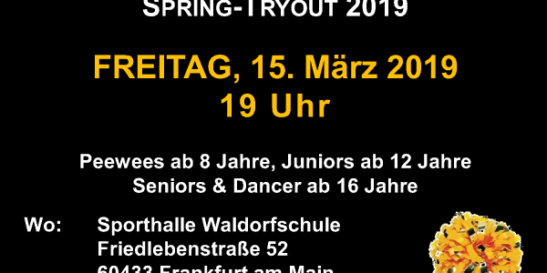 Spring Tryout 2019