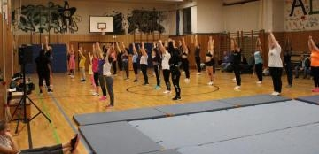 Full House beim Spring Cheerleading Try-Out
